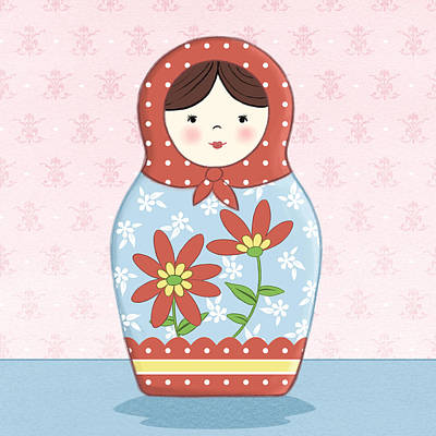 Matryoshka Painting - Matryoshka Doll  by Amanda Francey