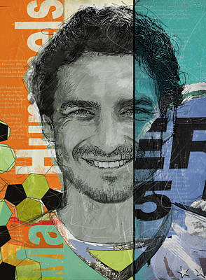 Cristiano Ronaldo Painting - Mats Hummels - B by Corporate Art Task Force