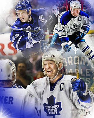 Toronto Maple Leafs Digital Art - Mats Sundin by Mike Oulton