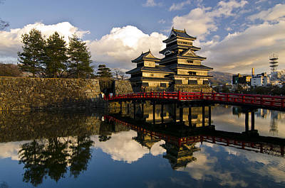 Water Reflections Photograph - Matsumoto Reflection by Aaron Bedell