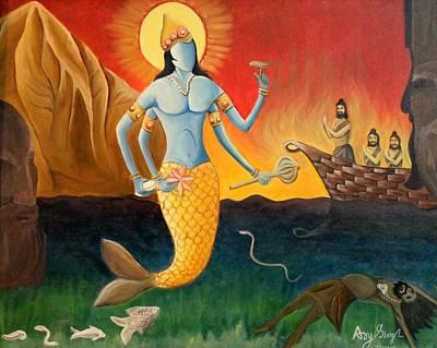 Matsya Avatar Art Print