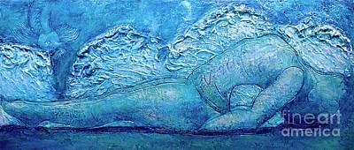 Art Print featuring the painting Matsya by D Renee Wilson