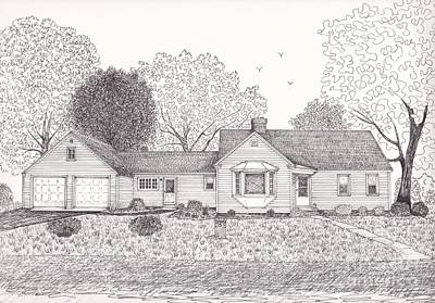 Drawing - Lucy's House by Michelle Welles