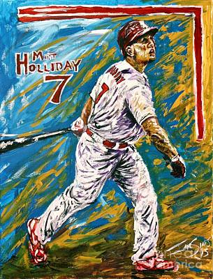 St Louis Cardinals Painting - Matt Holliday by Ian Sikes