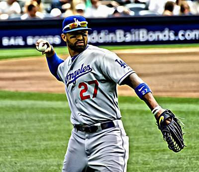 Matt Kemp Painting Art Print by Florian Rodarte