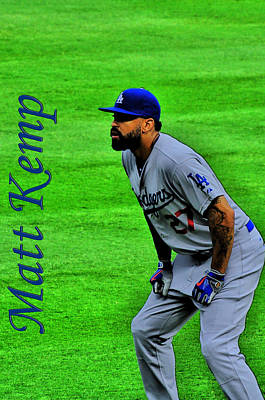 Matt Kemp Art Print by Sonja Dover