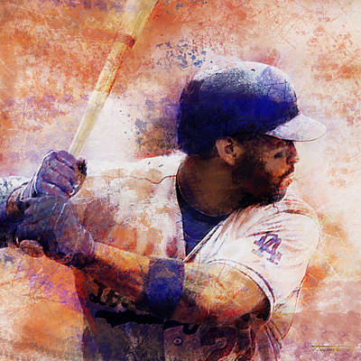 Matt Kemp Digital Art - Matt Kemp by Todd White