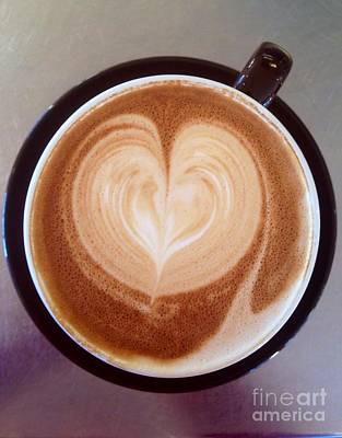 Photograph - Matter Of Heart Latte by Susan Garren