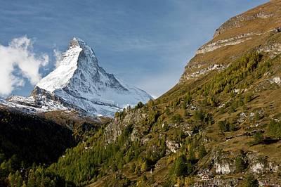 Snow-covered Landscape Photograph - Matterhorn by Bob Gibbons