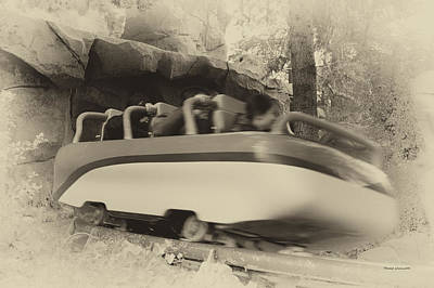 Matterhorn Bobsled Fantasyland Disneyland Heirloom Art Print by Thomas Woolworth