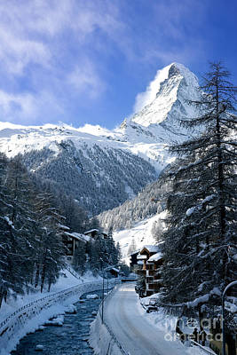 Snowy Brook Photograph - Matterhorn  by Brian Jannsen