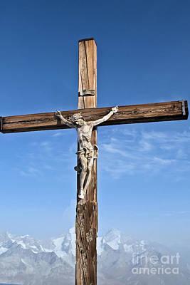 Thomas Kinkade Royalty Free Images - Matterhorn Cross Royalty-Free Image by Elvis Vaughn