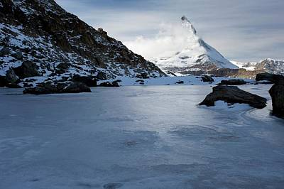 Snow-covered Landscape Photograph - Matterhorn From Switzerland by Bob Gibbons