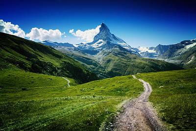 Mountain Paths Photograph - Matterhorn II by Juan Pablo De