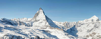 Ski Resort Photograph - Matterhorn Panorama by Georgeclerk
