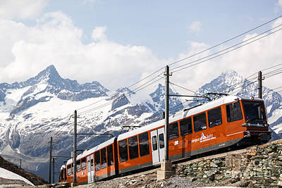 Matterhorn Railway Zermatt Switzerland Art Print