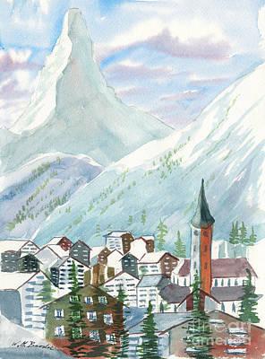 Painting - Matterhorn by Walt Brodis
