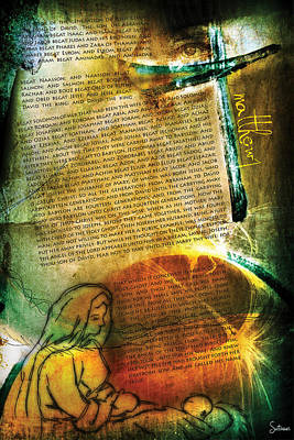 Religious Drawings Digital Art - Matthew 1 by Switchvues Design