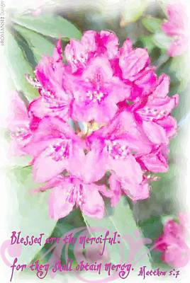 Matthew 5 7 Floral Art Print