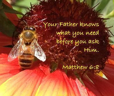 Matthew 6 8 Art Print