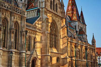 Buda Photograph - Matthias Church Reflections II by Joan Carroll