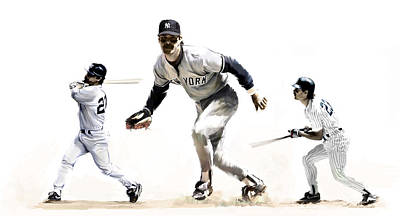 Mattingly Painting - Mattingly Don Mattingly by Iconic Images Art Gallery David Pucciarelli