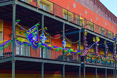Digital Art - Mattress Factory Mardi Gras Railing by Michael Thomas