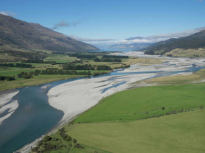 Matukituki River As It Flows From Mount Art Print by Panoramic Images