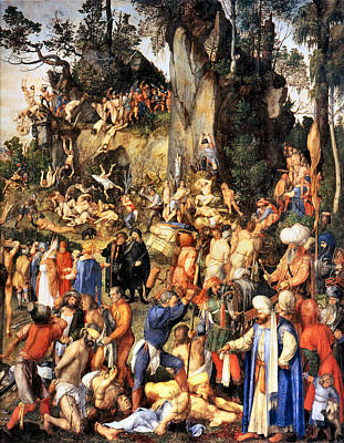 Matyrdom Of The Ten Thousand Art Print by Albrecht Durer