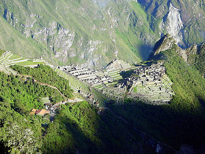 Inca Photograph - Mauch Picchu Viewed From Gate Of The Sun by Roger Burkart