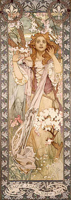 Painting - Maude Adams As Joan Of Arc by Alphonse Mucha