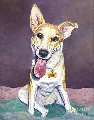 Mixed Labrador Retriever Painting - Maude by Catherine Garneau
