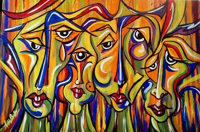 Painting - Maudlin Maidens by Nickie Bradley