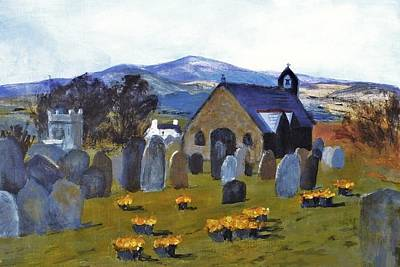 Caine Painting - Maughold Church Isle Of Man by Nigel Radcliffe