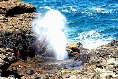 Photograph - Maui Blow Hole by Audreen Gieger