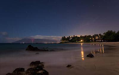 Maui By Night Art Print by James Roemmling