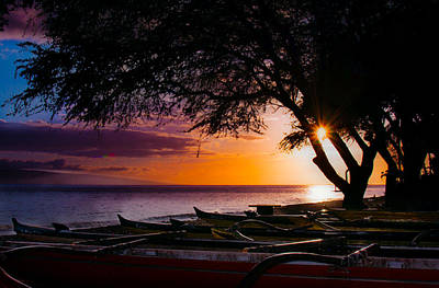 Maui Canoe Club Art Print by Camille Lopez