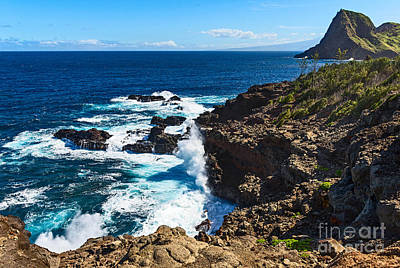 Abstract Male Faces - Maui Coast - view of the rugged West Coast by Jamie Pham