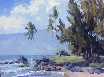 Hawaii Painting - Maui Cove by Pierre Bouret