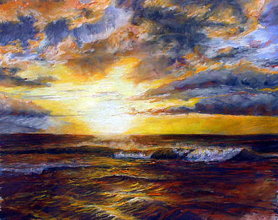 Painting - Maui Gold by Mary Giacomini