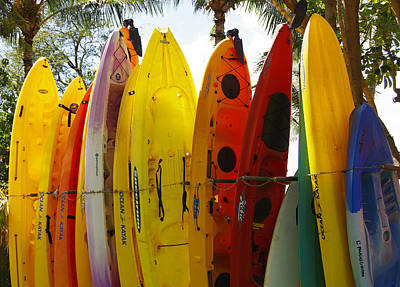 Photograph - Maui Kayaks by Marilyn Wilson