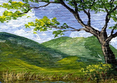 Mountain Valley Painting - Maui Landscape by Darice Machel McGuire