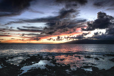 Photograph - Maui Lava Sunset by Coby Cooper