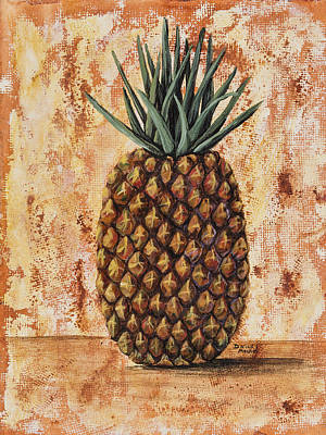 Interior Still Life Painting - Maui Pineapple by Darice Machel McGuire