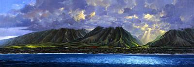 Maui Splendor Art Print by Tom Wooldridge