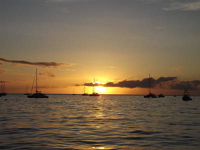 Art Print featuring the photograph Maui Sunset by James McAdams