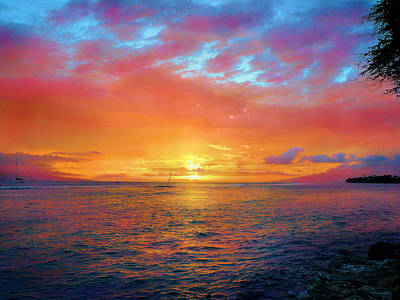 Photograph - Maui Sunset by Jane Girardot