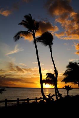 Hawaiin Photograph - Maui Sunset by Mary Tomaino