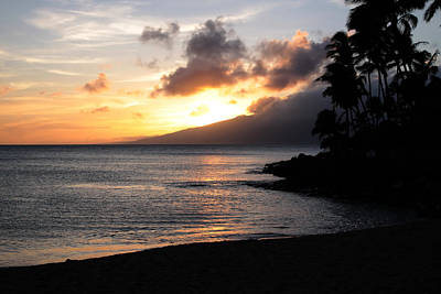Maui Sunset - Napilli Beach Art Print by Rau Imaging