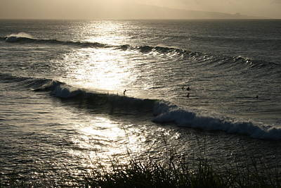 Photograph - Maui Sunset Surfers by Angela Bushman